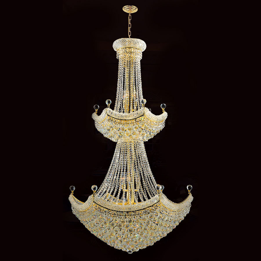 extra large chandelier. Worldwide W83074G36 Empire 2 Tier 66 Inch Tall Gold Extra Large Chandelier Light Fixture. Loading Zoom P