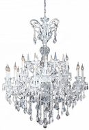 Worldwide W83079C48 Maria Theresa Polished Chrome Chandelier Lamp