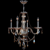 Worldwide W83095C23-AM Provence Polished Chrome Amber Mini Hanging Chandelier