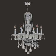 Worldwide W83096C23-CL Provence Polished Chrome Clear Mini Chandelier Light