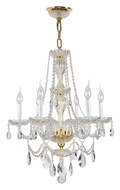 Worldwide W83096G23 Provence 23 Inch Diameter 6 Candle Gold Chandelier Lamp