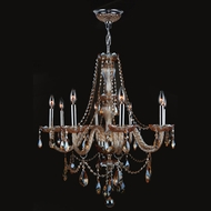 Worldwide W83097C28-AM Provence Amber Crystal 28 Inch Diameter 8 Candle Hanging Chandelier