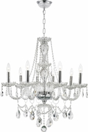 Worldwide W83097C28-CL Provence Polished Chrome Chandelier Lamp