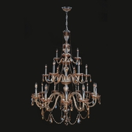 Worldwide W83099C38-AM Provence 38 Inch Diameter 21 Candle Hanging Chandelier Light