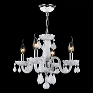 Worldwide W83100C16-WH Clarion Polished Chrome White Mini Chandelier Lamp