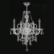 Worldwide W83102C20-CL Provence Polished Chrome Finish 22 Tall Hanging Chandelier