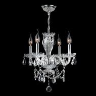 Worldwide W83103C17-CL Provence Clear Crystal 17 Inch Diameter Chandelier Lighting - 4 Candles