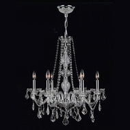 Worldwide W83105C24-CL Provence Clear Crystal 6 Candle Chandelier Light Fixture