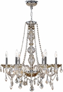 Worldwide W83105C24-GT Provence Polished Chrome Hanging Chandelier
