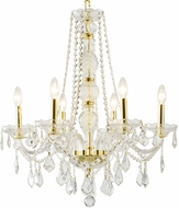 Worldwide W83105G24-CL Provence Polished Gold Chandelier Lighting