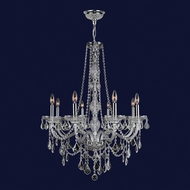 Worldwide W83106C28-CL Provence Polished Chrome Clear 28 Chandelier Lamp