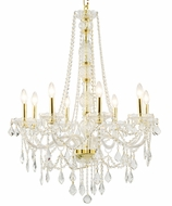 Worldwide W83106G28-CL Provence Polished Gold Lighting Chandelier