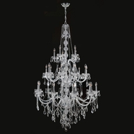 Worldwide W83108C43-CL Provence Polished Chrome Clear 43 Chandelier Lighting
