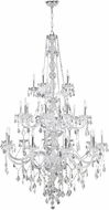 Worldwide W83108C43-CL Provence Polished Chrome Ceiling Chandelier