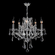 Worldwide W83116C19-CL Lyre Polished Chrome Clear Mini Ceiling Chandelier