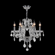 Worldwide W83117C20-CL Lyre Polished Chrome Clear Mini Ceiling Chandelier