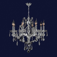 Worldwide W83118C26-CL Lyre Polished Chrome Clear 26 Chandelier Lamp