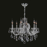Worldwide W83121C20-CL Catherine Clear Crystal 20 Inch Diameter Mini 6 Candle Chandelier