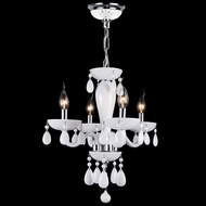 Worldwide W83126C16-WH Gatsby Polished Chrome 16  Mini Chandelier Light