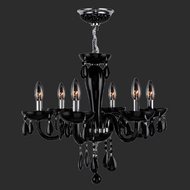 Worldwide W83128C22-BL Gatsby Polished Chrome 22  Mini Lighting Chandelier
