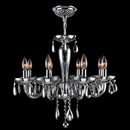 Worldwide W83129C22-CH Gatsby Polished Chrome 22  Mini Hanging Chandelier