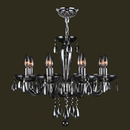 Worldwide W83129C22-SM Gatsby Polished Chrome Finish 19  Tall Mini Chandelier Lamp