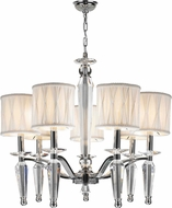 Worldwide W83132C24 Gatsby Polished Chrome Chandelier Light