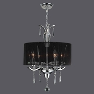 Worldwide W83133C16 Gatsby Polished Chrome Clear Drum Hanging Pendant Lighting