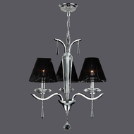 Worldwide W83133C20 Gatsby Polished Chrome Clear Mini Chandelier Lighting
