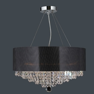 Worldwide W83137C20 Gatsby 6 Candle Chrome Finish 20 Inch Diameter Crystal Hanging Chandelier