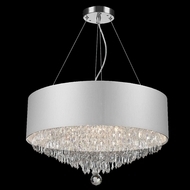 Worldwide W83137C20-SV Gatsby Polished Chrome Clear Drum Pendant Hanging Light