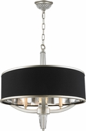 Worldwide W83139MN21 Gatsby Matte Nickel 21  Drum Hanging Lamp