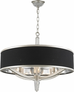 Worldwide W83140MN26 Gatsby Matte Nickel 26  Drum Pendant Light Fixture