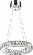 Worldwide W83146KC16 Galaxy Polished Chrome LED 16  Hanging Pendant Light