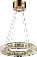 Worldwide W83146RG16-CL Galaxy Rose Gold LED 16  Hanging Pendant Lighting