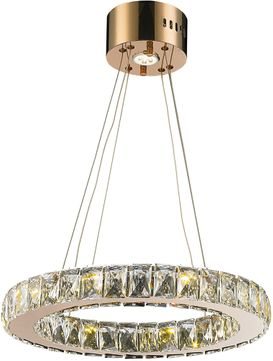 Worldwide W83146RG20-CL Galaxy Rose Gold LED 20  Hanging Pendant Light