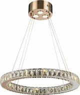 Worldwide W83146RG24-CL Galaxy Rose Gold LED 24  Pendant Hanging Light