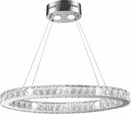 Worldwide W83147KC28 Galaxy Polished Chrome LED 12  Drop Ceiling Lighting