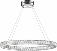 Worldwide W83147KC34 Galaxy Polished Chrome LED 14  Ceiling Light Pendant