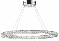 Worldwide W83147KC42 Galaxy Polished Chrome LED 16  Ceiling Pendant Light