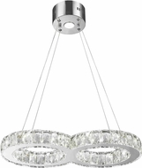Worldwide W83148KC22 Galaxy Polished Chrome LED 12  Drop Ceiling Light Fixture
