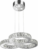 Worldwide W83149KC24 Galaxy Polished Chrome LED 24  Pendant Light