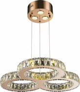 Worldwide W83149RG24-CL Galaxy Rose Gold LED Hanging Light Fixture