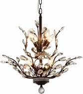 Worldwide W83152F21 Aspen Dark Bronze Mini Hanging Chandelier
