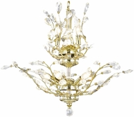 Worldwide W83152G21 Aspen Polished Gold Mini Lighting Chandelier