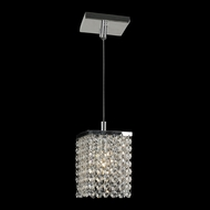 Worldwide W83154C5-CL Prism 5 Inch Diameter Clear Crystal Mini Pendant Hanging Light