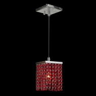Worldwide W83154C5-RD Prism Chrome Finish Mini Red Crystal Bar Lighting