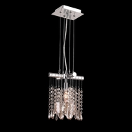 Worldwide W83179C8-CL Nadia Polished Chrome Clear Mini Hanging Light