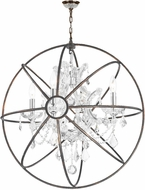 Worldwide W83190C24-CL Armillary Dark Bronze 24  Drop Lighting