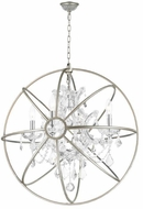 Worldwide W83190MN24-CL Armillary Matte Nickel 24  Ceiling Light Pendant